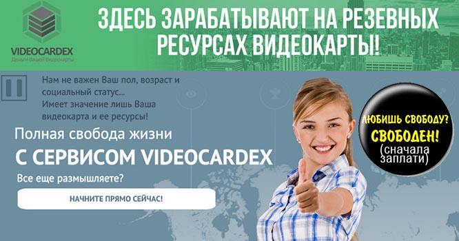videocardex отзывы