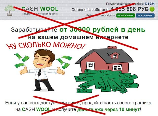 продажа трафика CASH WOOL