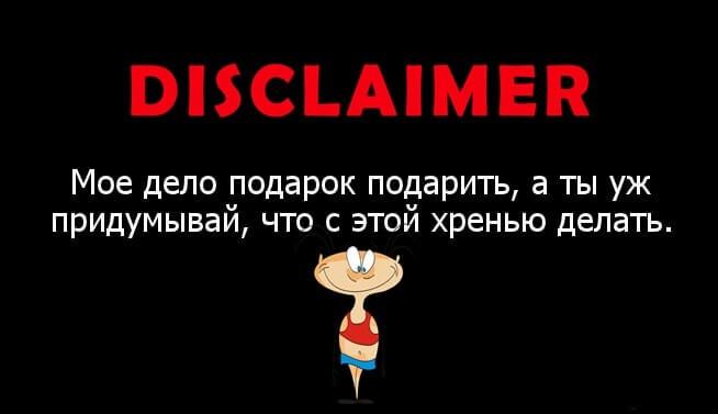 дисклеймер